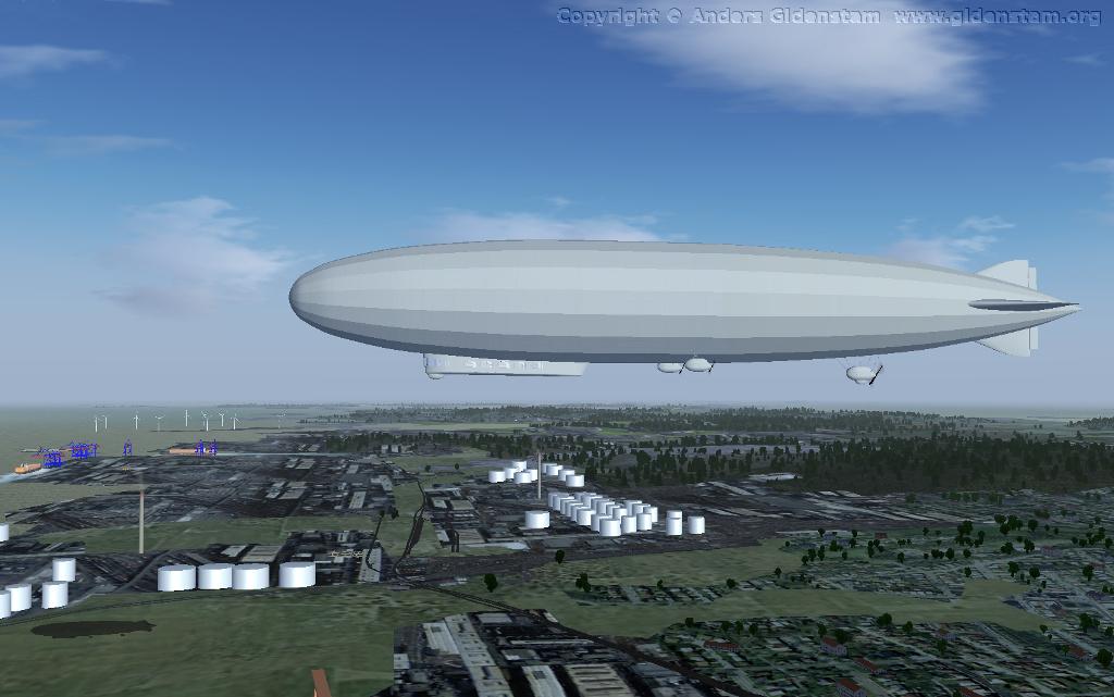 Lighter-than-air simulation in JSBSim and FlightGear