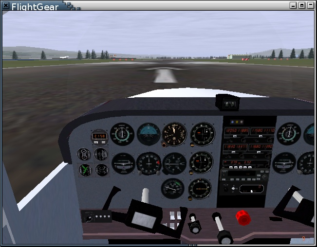 Aircraft dual control for the FlightGear multiplayer network